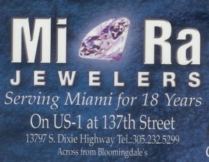 Mira Jewelers Business Card